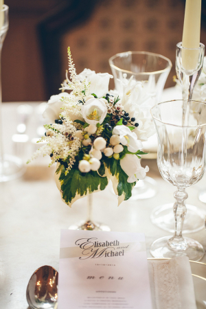 Crystal Wine Goblets Reception Ideas