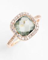Cushion Stone Sapphire Bezel Ring