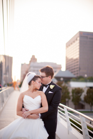 Downtown Milwaukee Bride and Groom Portrait
