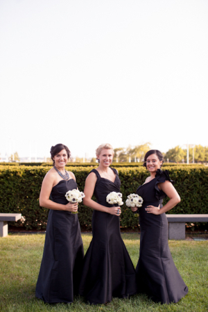 Elegant Black Bridesmaids Dresses