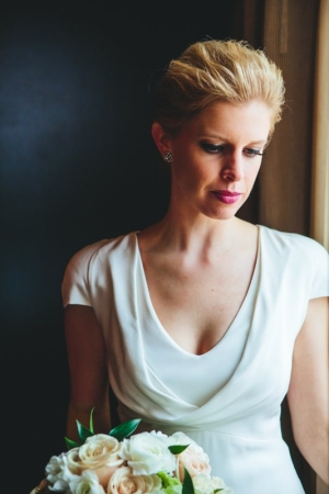 Elegant Bride in Alexander McQueen