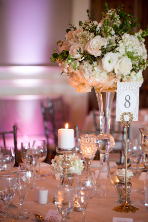 Elegant Champagne and Blush Reception
