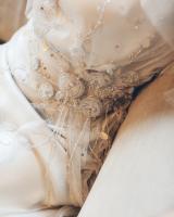 Elegant Details on Jenny Packham Gown