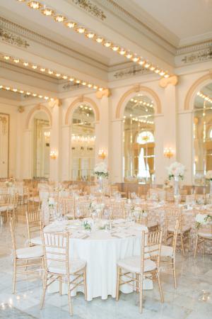 Elegant Gold Ohio Hotel Ballroom