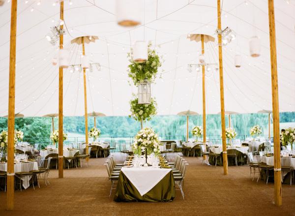 Elegant Green White Wedding