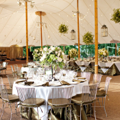Elegant Ivory and Brown Reception