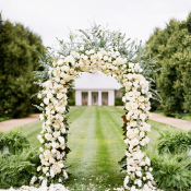 Elegant White Rose Ceremony Arch