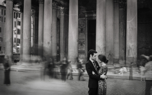 Engagement Photo at the Pantheon