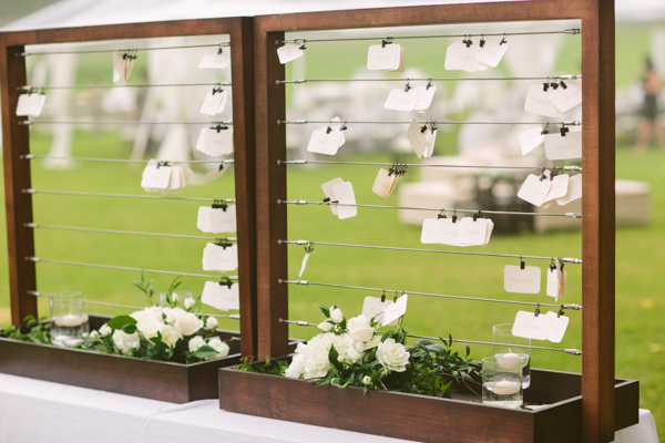 Escort Cards on Wire