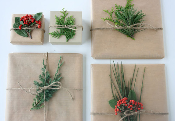 Evergreen Gift Toppers