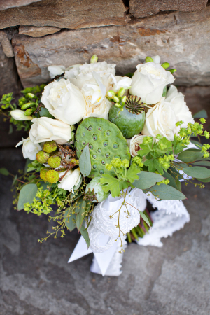 Exotic Green and Ivory Bouquet