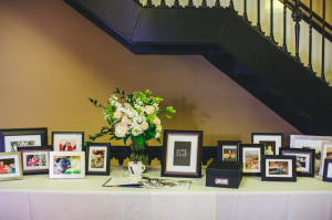 Family Photos in Frames at Wedding