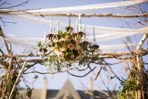Floral Chandelier on Chuppah