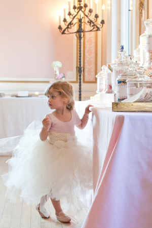 Flower Girl in Tulle Skirt