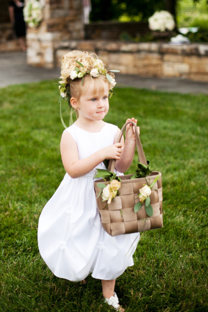 Flower Girl with Tote Bag