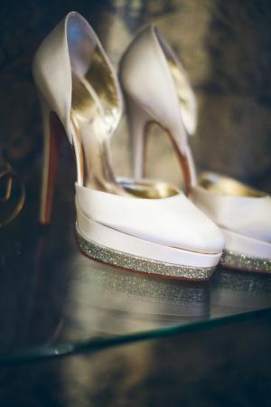 Glitter Platform Bridal Shoes