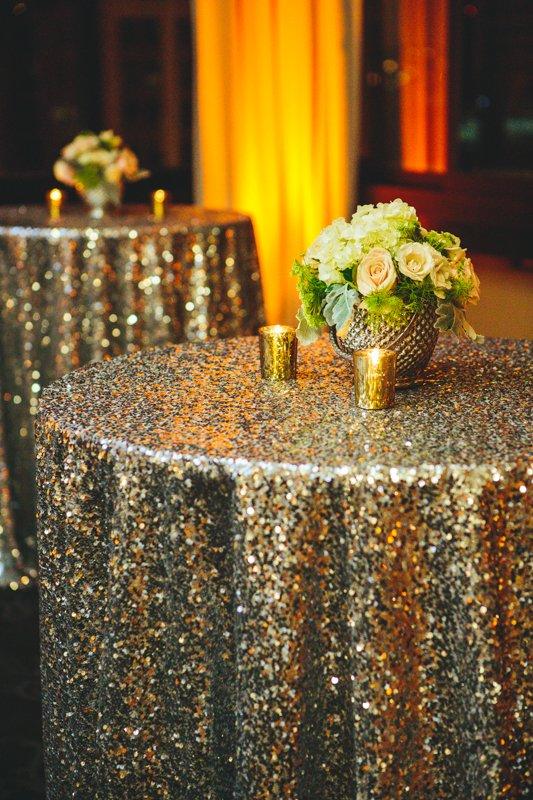 Glittering Gold Tablecloths