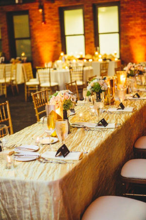 Gold Black Wedding Reception