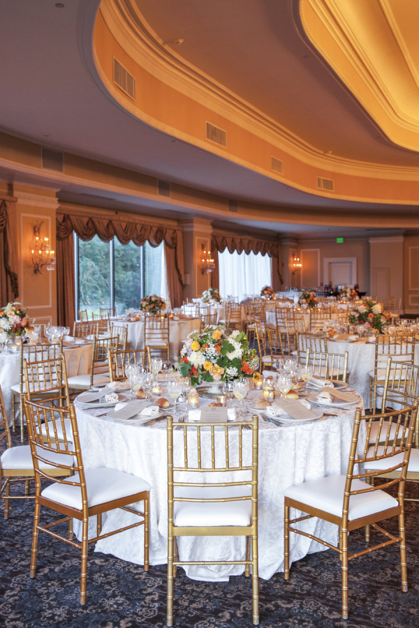 Gold Chiavari Chairs At Reception Elizabeth Anne Designs The
