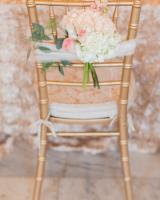 Gold Chiavari Chairs at Reception