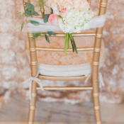 Gold Chiavari Chairs at Reception