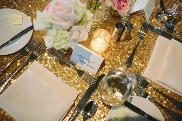 Gold Glitter Linens