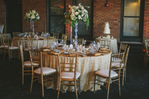 Gold Hotel Ballroom Wedding