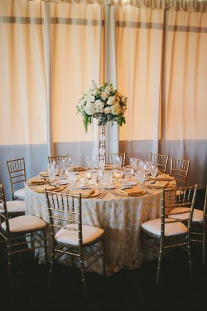 Gold Ivory Ballroom Reception