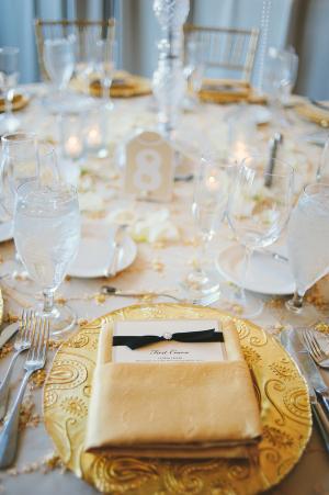 Gold Paisley Wedding China