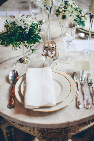 Gold Rimmed Wedding China