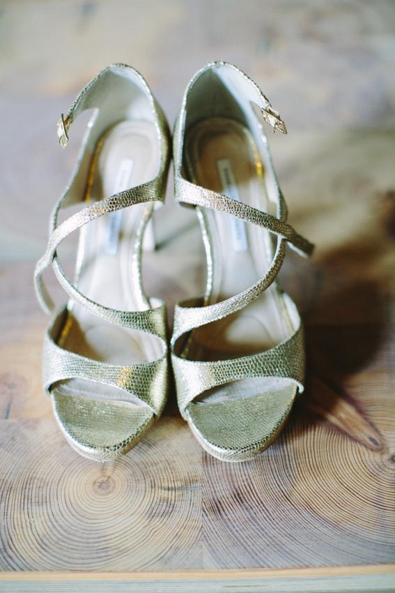Gold Snakeskin Bridal Shoes