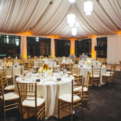 Gold and Black Wedding Reception