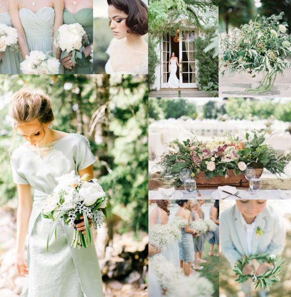 Grayed Jade Fresh Green Wedding Colors