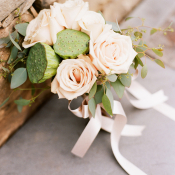 Green and Ivory Bridesmaids Bouquet