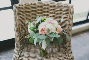 Green and Pink Garden Bouquet