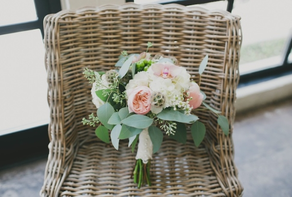 Green and Pink Garden Bouquet