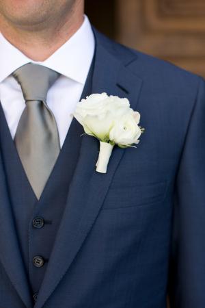 Groom in Navy Suit