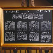 Hand Printed Seating Chart