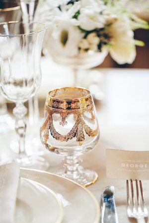 Intricate Gold Goblets