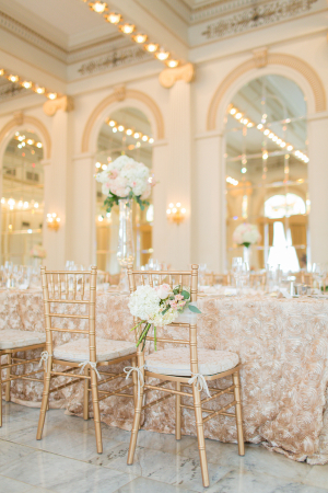 Ivory, Blush, and Gold Reception Decor