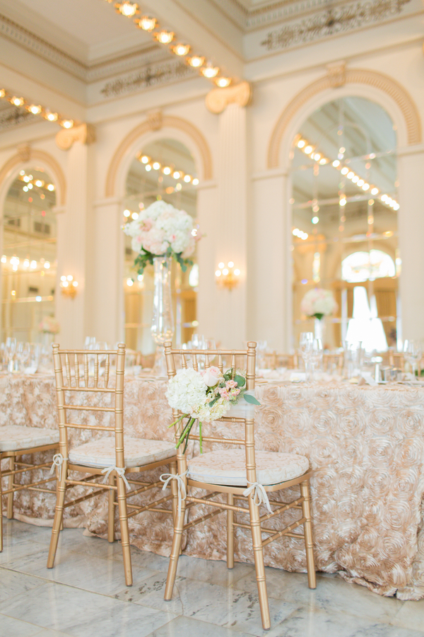 Ivory Blush And Gold Reception Decor Elizabeth Anne Designs The