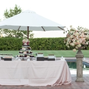 Ivory and Pink Wedding Dessert Table