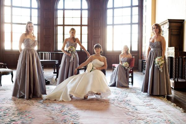 Jim Hjelm Mauve Bridesmaids