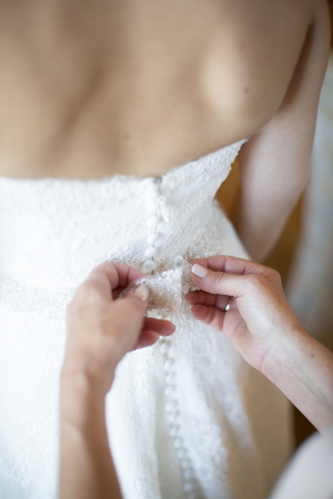Lace Details on Bridal Gown