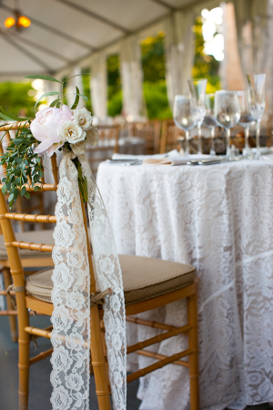 Lace and Peony Reception Decor