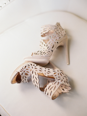 Laser Cut Bridal Booties