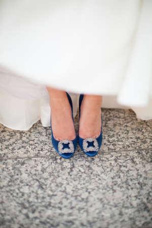 Manolo Blahnik Blue Shoes