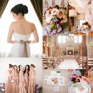 Mauve Gold Purple Wedding Colors