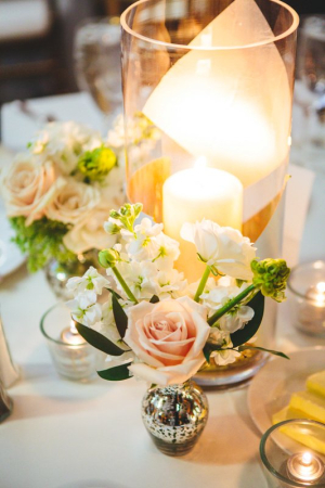 Mercury Glass and Candle Centerpiece