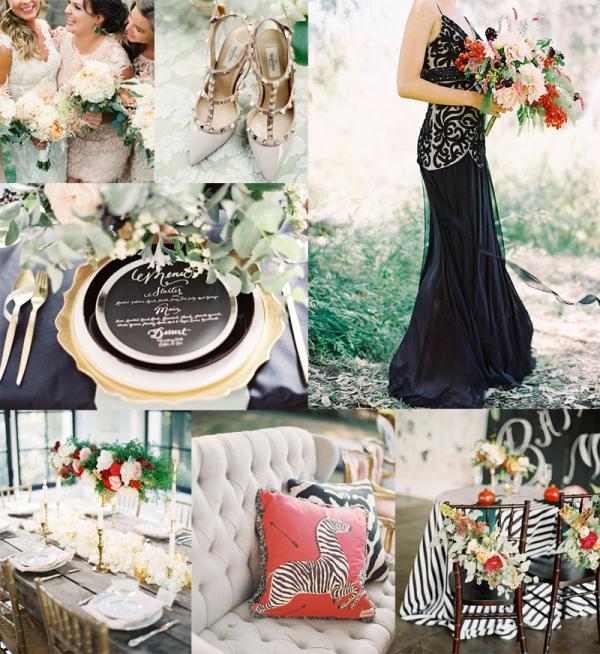 Modern Black Gold Poppy Wedding Inspiration
